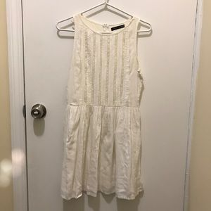 White dress with some lace detail